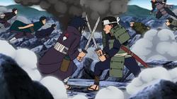 Hashirama y Madara luchando de jovenes