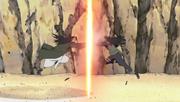 Hiashi luchando contra Hizashi