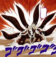 Naruto libera a sexta cauda