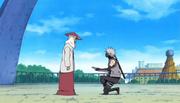 Hiruzen promueve a Kakashi como instructor