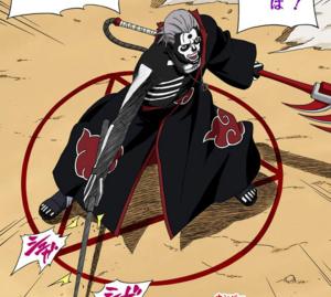 Jutsu de Maldición Controlando la Sangre Poseída de la Muerte Manga