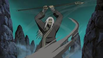 Kazuma spins his shakujō…