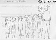 Arte Pierrot - Evolução de Hinata Criança e Kō