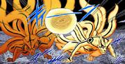 Naruto e Minato fazem um Rasengan gigante