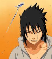 Sasuke llora la muerte de Itachi