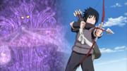 Arco & Flecha de Sasuke com e sem Susanoo