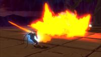 Liberação de Fogo - Projétil de Chama do Dragão de Fogo (Hiruzen - Game)