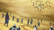 Los revividos viendo al pequeño escuadrón de la Alianza