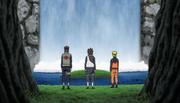 Yamato, Aoba e Naruto na cachoeira da verdade