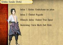 Jutsus de Sasuke Uchiha Hebi