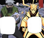 Kakashi protege Naruto Mangá
