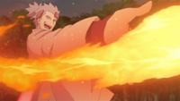 Liberação de Fogo - Técnica da Fênix Sábia de Fogo (Urashiki - Anime)