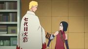 Naruto le declara a Sarada que los lazos están hechos de amor