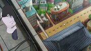 Orochimaru observando al Equipo Konohamaru