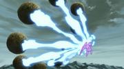 Sasuke absorbe el Chakra de las Bestias con Cola en su Susanoo