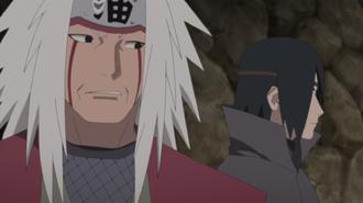 Jiraiya and Adult Sasuke