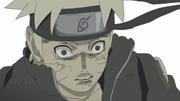 Naruto aturdido por la extracción de Kurama