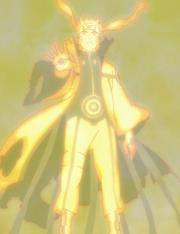Naruto en mode chakra de Kyûbi