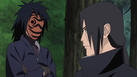 Tobi talks to Itachi