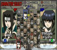 Naruto Ultimate Ninja 2 selección de personajes