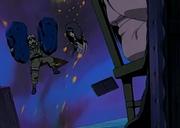Naruto y Kurenai luchan dentro del genjutsu de Yakumo