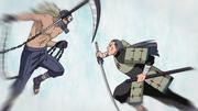 Hanzô affrontant Mifune dans le passé
