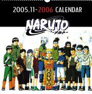 Naruto Calendario 2006 Portada Versión A