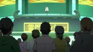 Naruto discursando para os manifestantes em frente a Companhia Kaminarimon