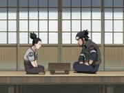 Shikamaru jouant au shôgi