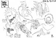 Arte Pierrot - Marionete (Terceiro Kazekage2)