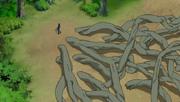 Elemento Madera Jutsu de Raíces Subterráneas A mayor escala Anime