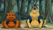 Naruto com Gamakichi e Gamatatsu