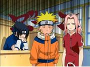 Reacción de Naruto, Sasuke y Sakura al oír la primera impresión de Kakashi