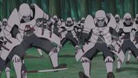 Samurais são acertados por Kimimaro