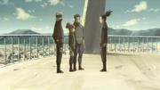 Shikamaru conversando com sua nova equipe