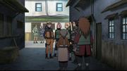 Naruto reunido com seus amigos falando de Danzō