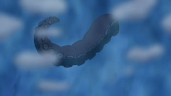 …but it turns out to be a tentacle.