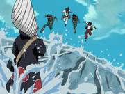 Time Guy enfrentando Kisame