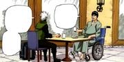 Kakashi visits Guy