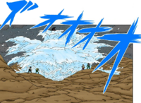 Liberação de Água - Explosão de Água da Colisão de Onda (Mangá)