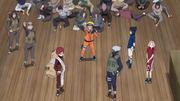 Naruto y su equipo logran trabajar en equipo con Gaara