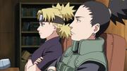 Shikamaru e Temari monitoram os Exames Chūnin