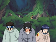 Team 8 hides from gaara