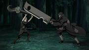 Juzo enfrentando a Yagura
