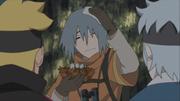 Tosaka conhece Boruto e Mitsuki