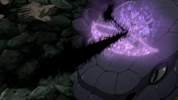 Arrow of black flames.