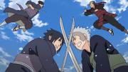 Clan Uchiha peleando contra el Clan Senju