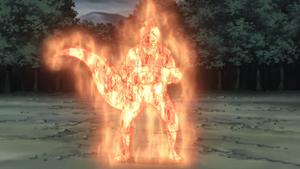 Modo Chakra de Elemento Lava Anime
