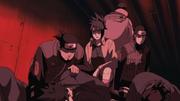 Time de Infiltração e Reconhecimento examinando ninjas de Takigakure