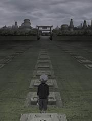 Kakashi visitando o túmulo de seu pai